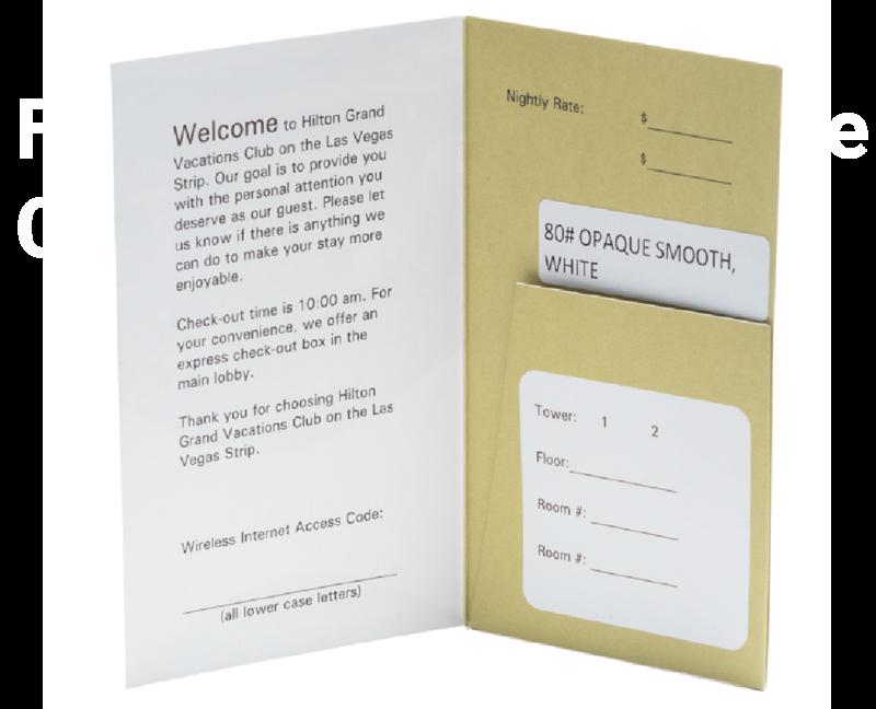 Hotel Key Holders 4 Color Presentation Folder Inc